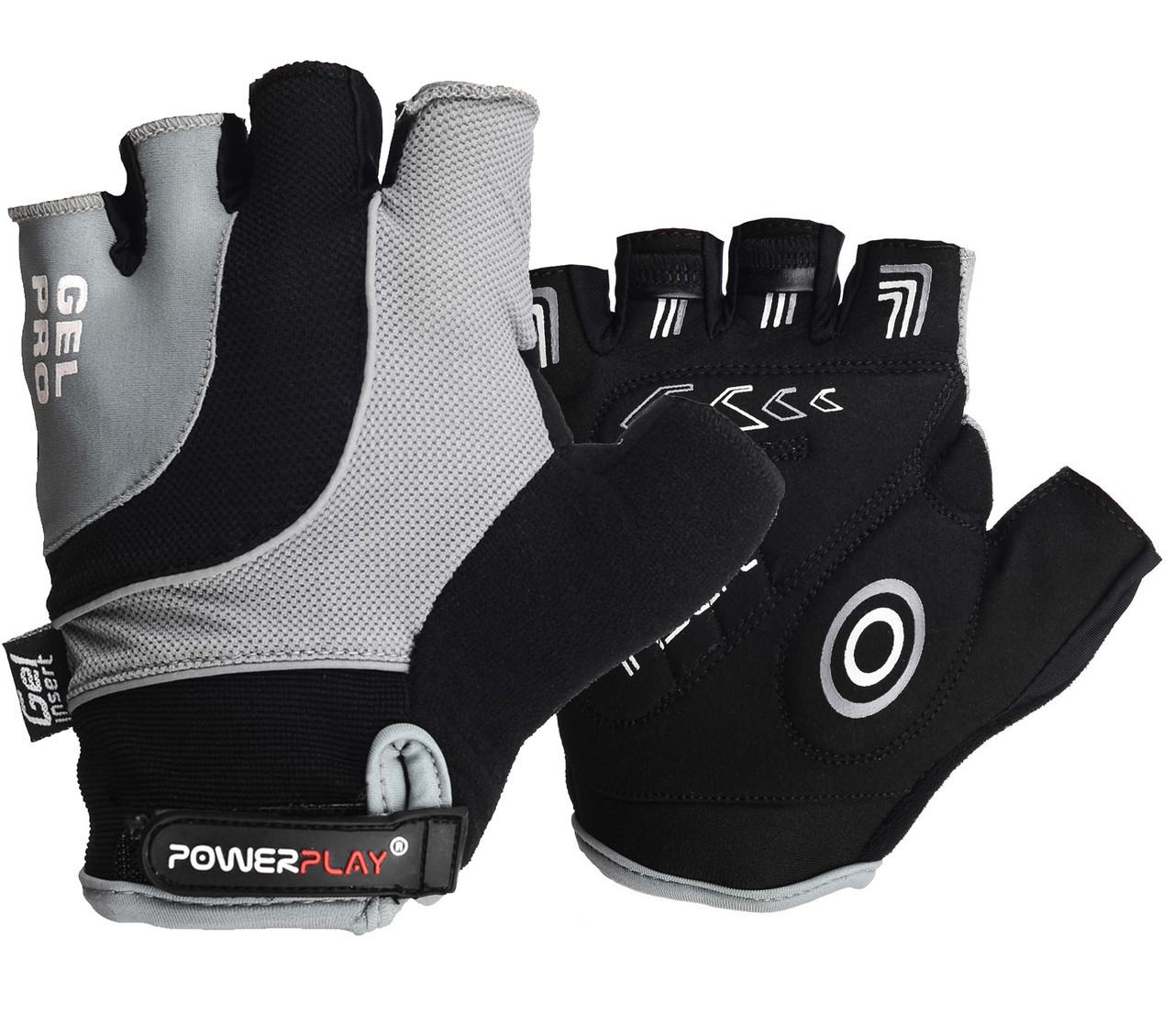 Велоперчатки PowerPlay 5015 A Серые S