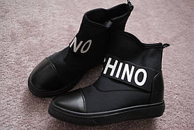Женские сникерсы в стиле Moschino Black 37-40