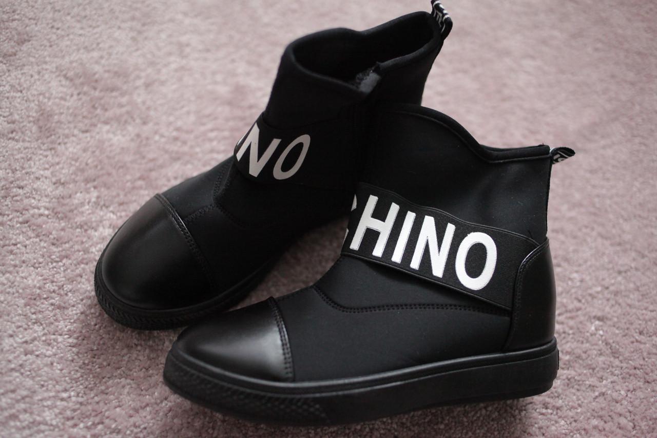 Женские сникерсы в стиле Moschino Black 38-40