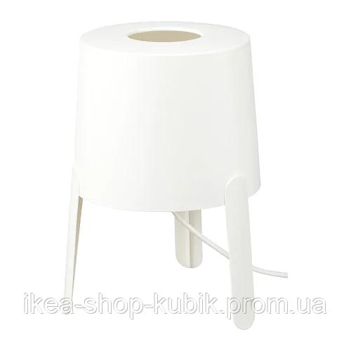 ИКЕА TVÄRS Лампа настольная, белая