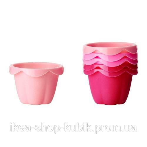 ІКЕА СОККЕРТАКА Формочка для випічки, різні відтінки рожевого