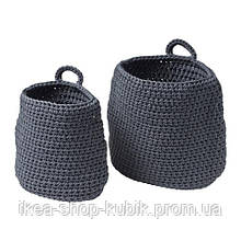 ИКЕА НОРДРЭНА Набор корзин,2 штуки, серый