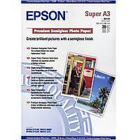 Фотобумага Epson Premium Semigloss Photo Paper Полуглянцеая А3+, 260г/м кв, 20л (C13S041328)