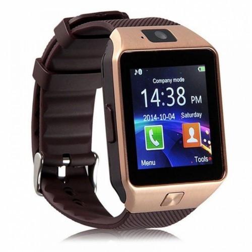 Умные часы-телефон Smart Watch DZ09 Gold