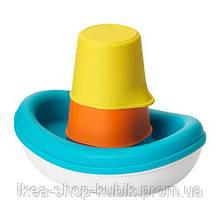 ИКЕА СМОКРИП Игрушечный набор для ванны, 3 предмета, лодка