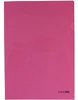Папка уголок А4 Экономикс, 180 мкм фактура глянец розовая E31153-09