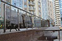 Квадратные алюминиевые перила на балкон