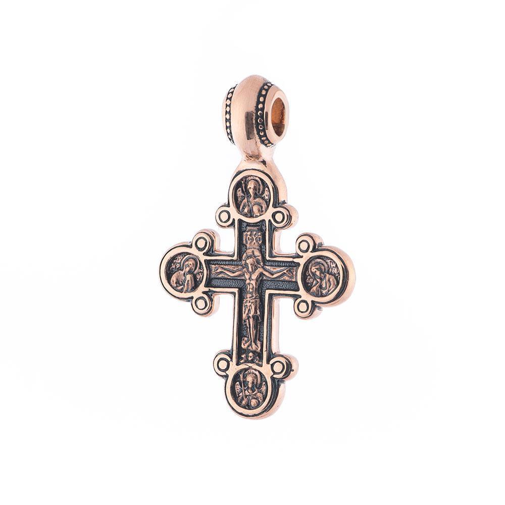 Золотий православний хрестик з розп'яттям гп02670