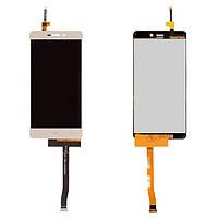 Дисплейный модуль (дисплей + сенсор) для Xiaomi Redmi 3, Redmi 3S, Redmi 3X, золотистый, оригинал