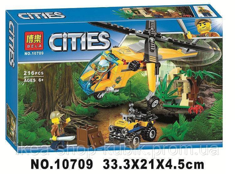 """Конструктор Bela City 10709 """"Вантажний вертоліт дослідників джунглів"""""""