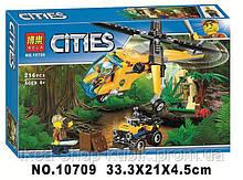 """Конструктор Bela City 10709 """"Грузовой вертолёт исследователей джунглей"""""""
