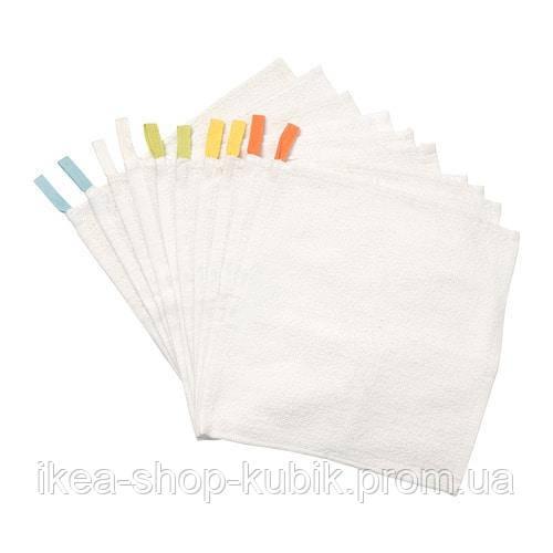 КРАМА Упаковка полотенец 30x30 см, 10 шт.