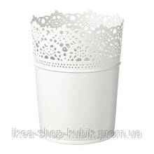 ИКЕА СКУРАР Кашпо, белый с оттенком, 10.5 см