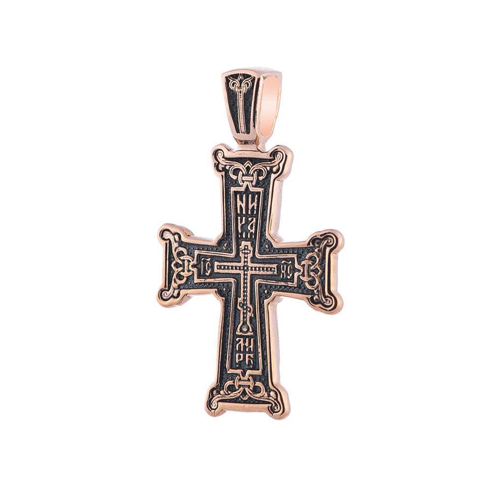 """Золотой православный крест """"Голгофа"""" гп02655"""