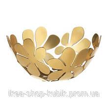 ИКЕА СТОКГОЛЬМ Миска, желтая медь золотой, 20 см