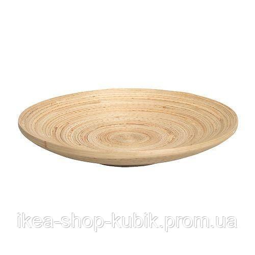 ГУЛЬТЕТ Тарілка, бамбук, 30 см