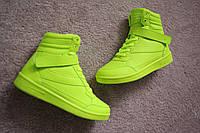 Женские кроссовки Air Force style Neon Green 38---41 качество