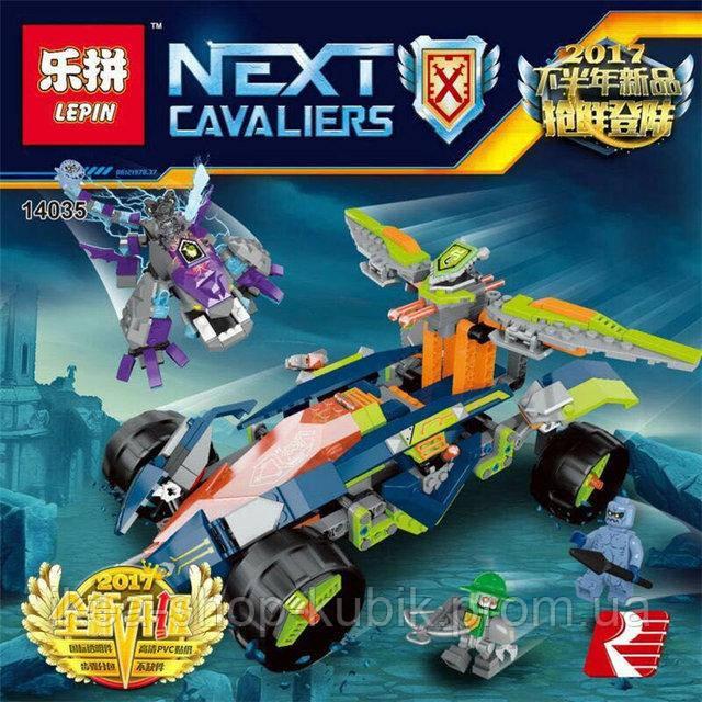 Конструктор Lepin 14035 Nexo Knight Вездеход Аарона 4x4