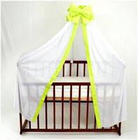 Балдахин для детской кроватки АЛЕКС, цвет салатовый