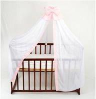 Балдахин для детской кроватки АЛЕКС, цвет розовый