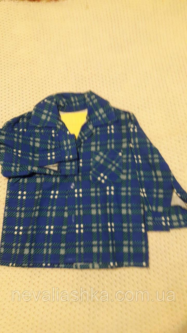 Рубашка байковая для мальчика раз 86-92 Украина