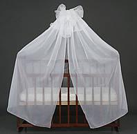 Балдахин для детской кроватки АЛЕКС, цвет белый
