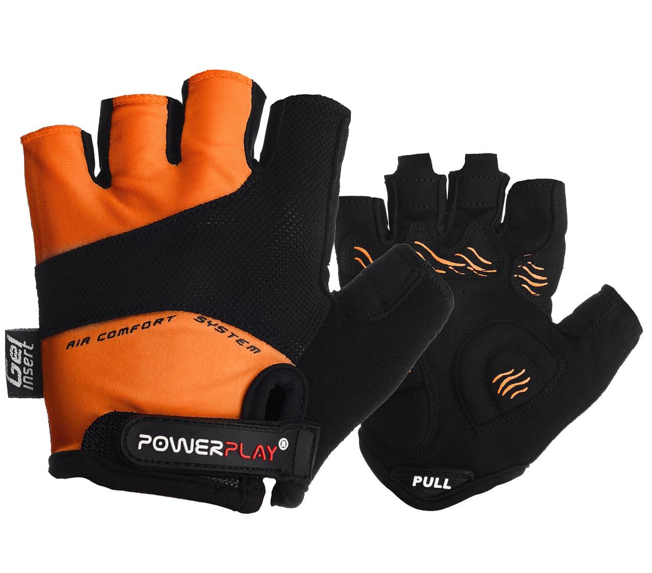 Велоперчатки PowerPlay 5013 A Оранжевые S