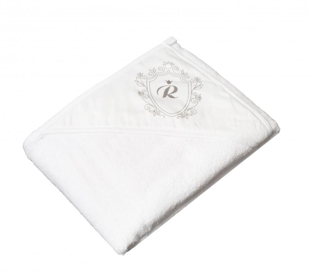 Детское мягкое махровое полотенце Tega Royal RL - 008 100x100 White