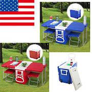 Походный набор термобокс: стол+2 стула excellent wing cooler