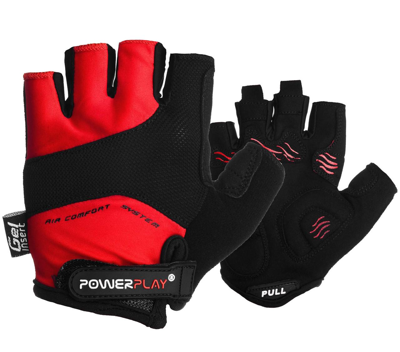 Велоперчатки PowerPlay 5013 D Красные L