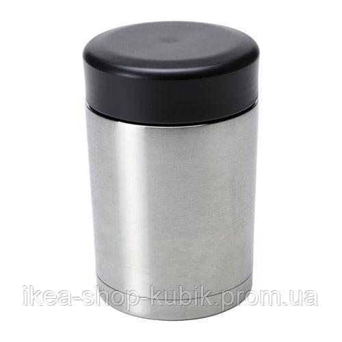 ІКЕА ЭФТЕРФРОГАД Термос для їжі, нержаіюча сталь сталь, 0.5 л