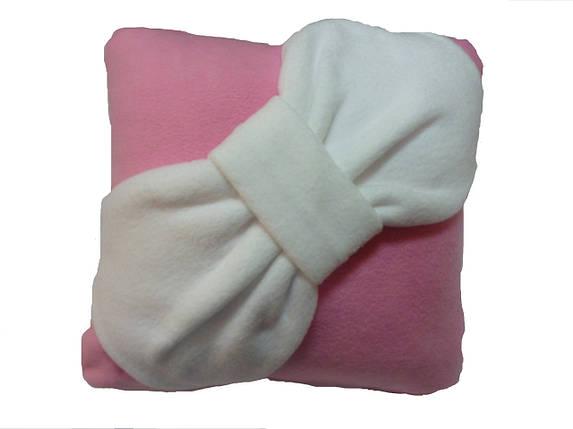 Подушка декоративна Бант рожева, фото 2