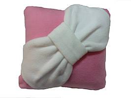 Подушка декоративна Бант рожева