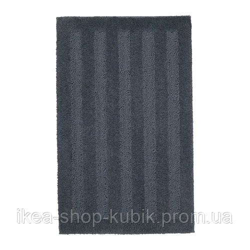 ИКЕА EMTEN Коврик для ванной, темно-серый, 50x80 см