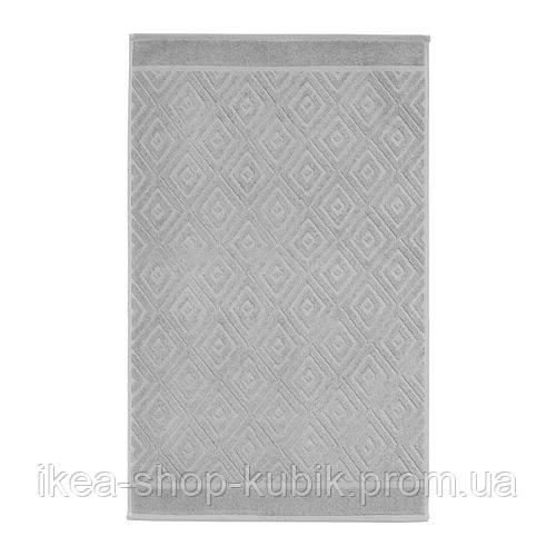 ФЭЛАРЕН Коврик для ванной, классический серый, 50x80 см