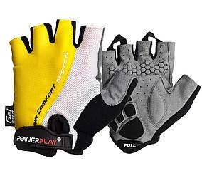 Велоперчатки PowerPlay 5010 A Бело-желтые L