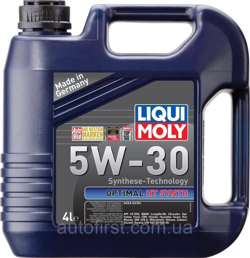 LIQUI MOLY Масло 5W30 Optimal HT Synth (4L) (BMW LL-98/MB 229.3/VW 502.00/505.00)