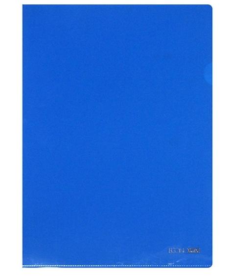 Папка уголок А4 Экономикс, 180 мкм фактура глянец синяя E31153-02