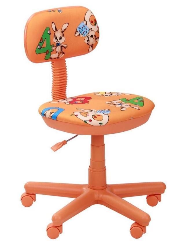 Кресло Свити оранжевый Зайцы оранжевые (Микровелюр)