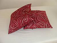 Комплект подушек 2шт бордовые и молосные с серебром, фото 1