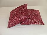 Комплект подушок 2шт бордові і молосные з сріблом, фото 2
