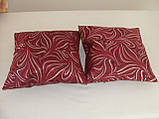Комплект подушок 2шт бордові і молосные з сріблом, фото 3