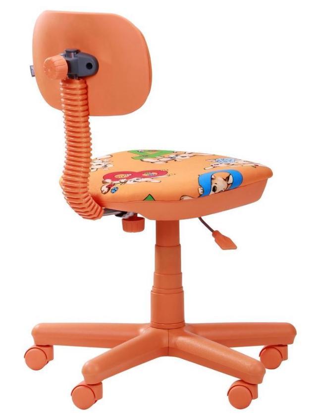 Кресло Свити оранжевый Зайцы оранжевые (Микровелюр) фото 4