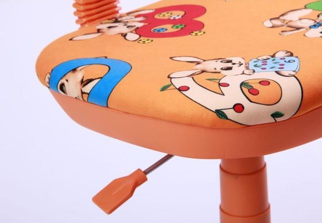 Кресло Свити оранжевый Зайцы оранжевые (Микровелюр) фото 6