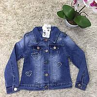 Подростковый джинсовый пиджак для девочек оптом  S&D
