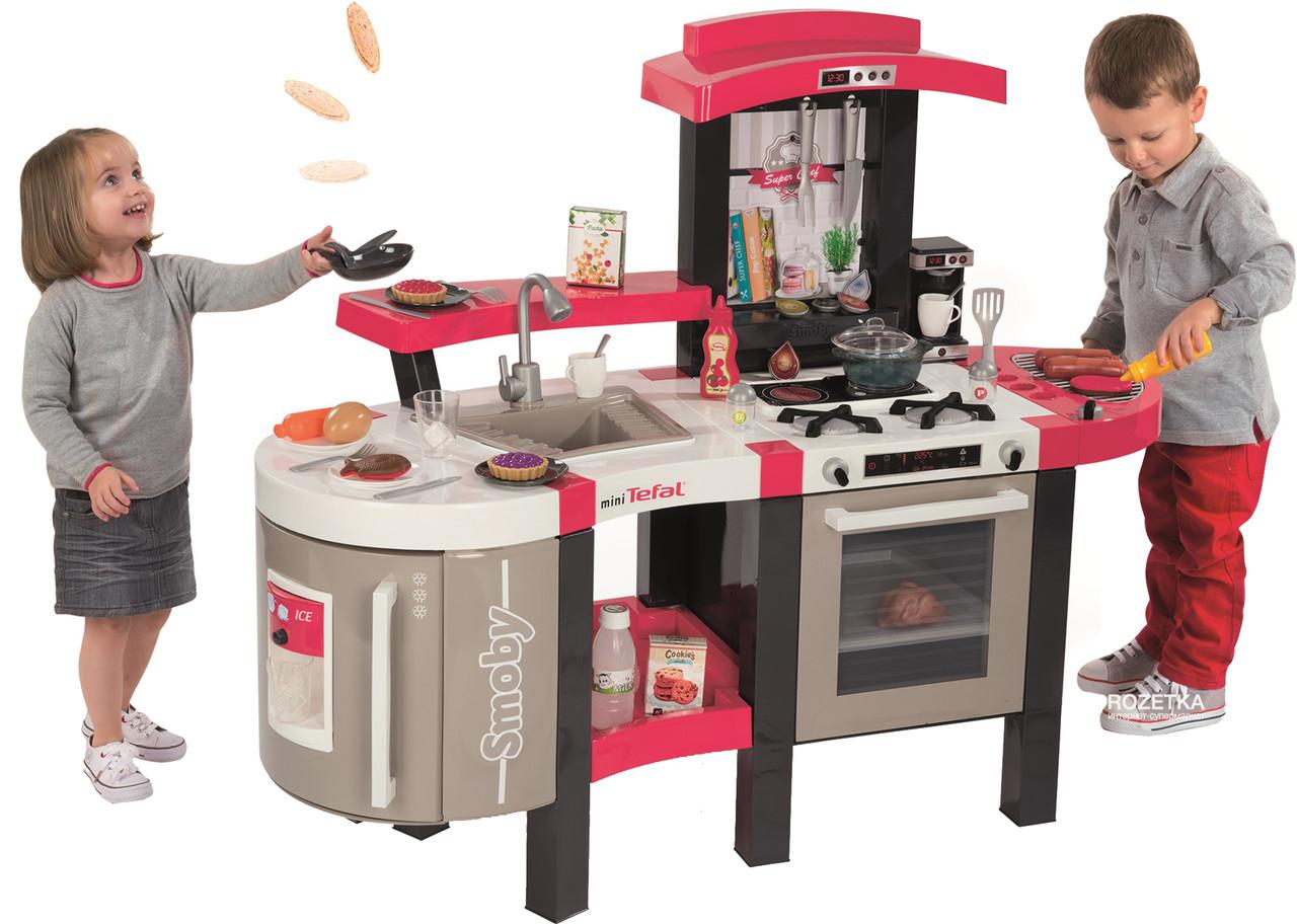 Детская интерактивная кухня Тефаль Супер Шеф с эффектом кипения Smoby Tefal Super Chef Deluxe 311304