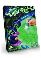 Волшебная доска для рисования Рисуем светом размер А4 Рисуй светом Neon Light Pen NLP-01