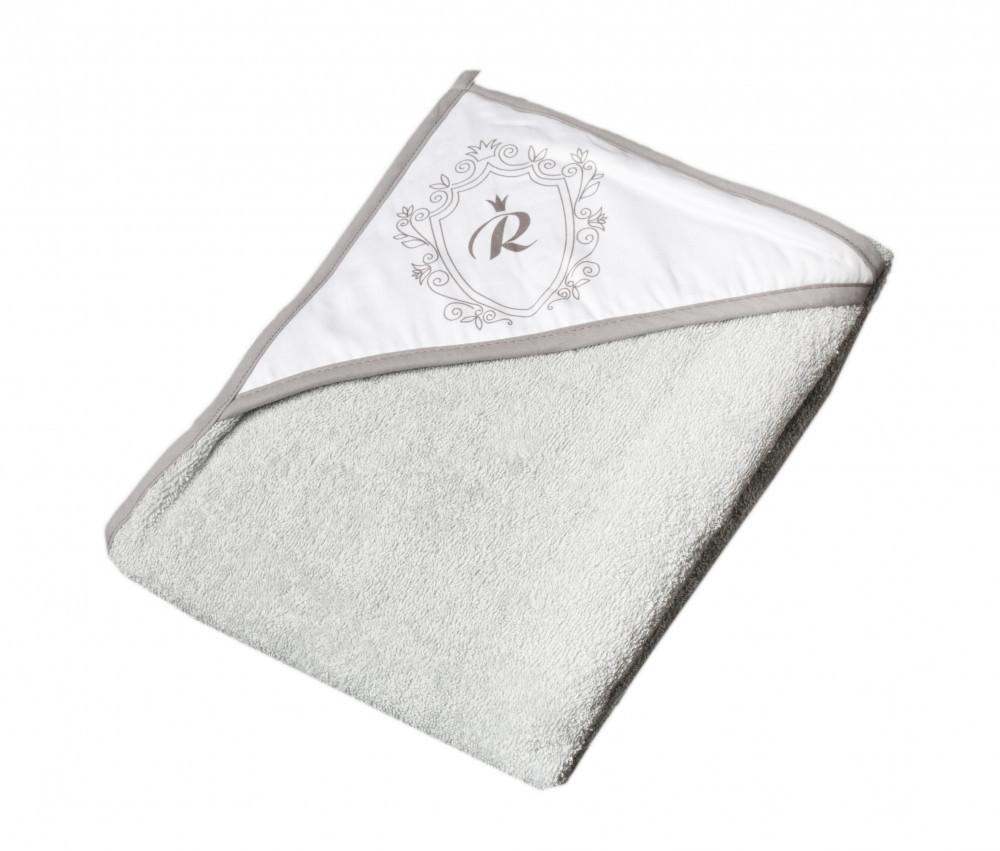 Детское мягкое махровое полотенце Tega Royal RL - 008 100x100 Grey