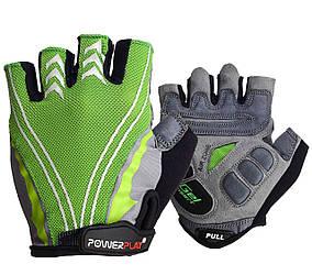 Велоперчатки PowerPlay 5007 A Зеленые M