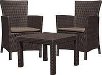 Набор мебели из ротанга Rosario balcony set, коричневый